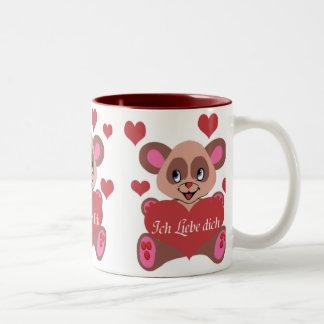 Ich Liebe Dich Two-Tone Coffee Mug