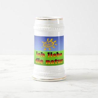 Ich Liebe die Natur I Love Nature in German Beer Stein