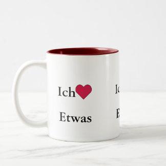 Ich Liebe (Etwas) Two-Tone Mug