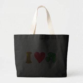 Ich liebe Irland I love Ireland Kleeblatt shamrock Einkaufstaschen