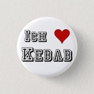 Ich Liebe Kebab I love kebab Deutsche German 3 Cm Round Badge