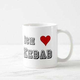 Ich Liebe Kebab I love kebab Deutsche German Basic White Mug