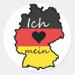 Ich liebe mein Deutschland Runde Aufkleber
