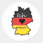 Ich liebe mein Deutschland Runde Sticker