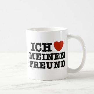 Ich Liebe Meinen Freund Coffee Mugs
