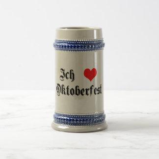 Ich Liebe Oktoberfest (I heart Oktoberfest) Stein Coffee Mug