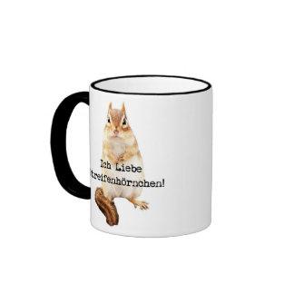 Ich Liebe Streifenhörnchen! Mugs
