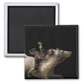 Ichabod Crane of Sleepy Hollow Square Magnet