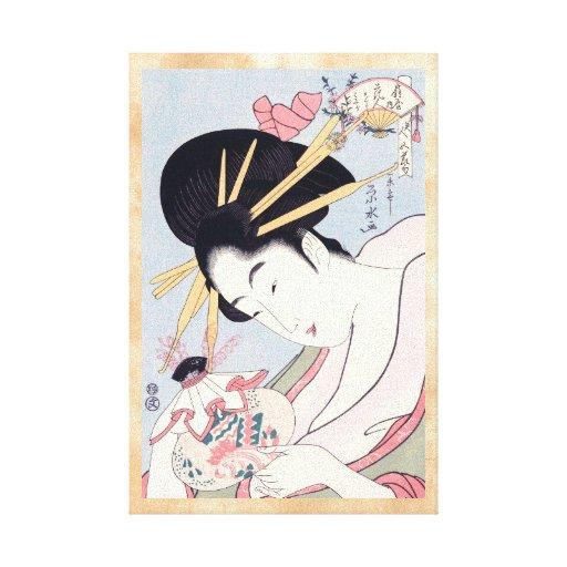 Ichirakusai Eisui Five Seasonal Festivals courtesa Stretched Canvas Prints
