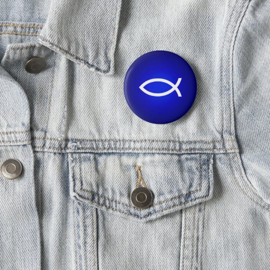 Ichthus - Christian Fish 6 Cm Round Badge