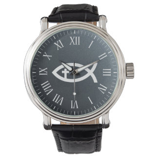 Ichthus | Christian Fish Crucifix Symbol Watch