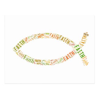 Ichthus - Christian Fish Symbol - Faith Postcard