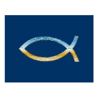 Ichthus | Christian Fish Symbol Postcard