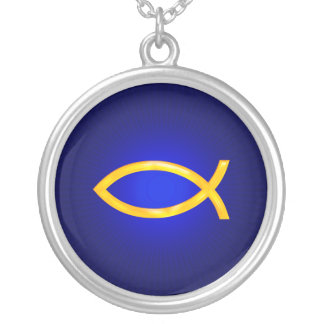 Ichthus - Christian Fish Symbol Silver Plated Necklace