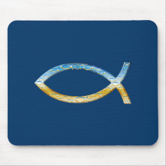 Ichthus - Christian Fish Symbol  Sky & Ground Mouse Mat