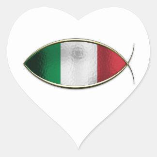 Ichthus - Italian Flag Stickers