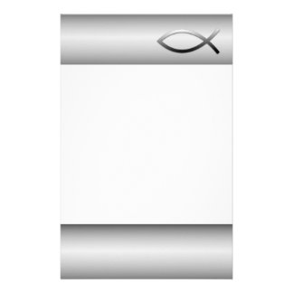 Ichthys Jesus Fish Christian Symbol Personalized Stationery