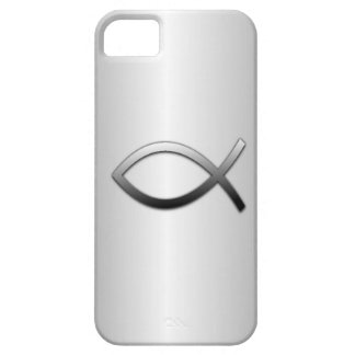 Ichthys Jesus Fish on Silver Flare Christian iPhone 5 Covers