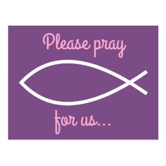 "Ichthys ""Please pray for us…"" Prayer Request Card"