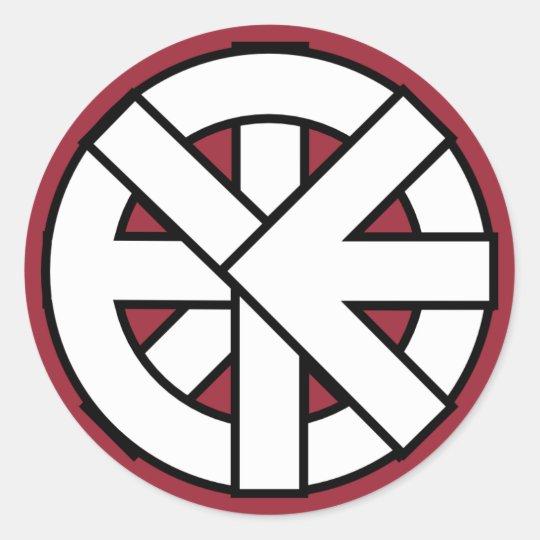 Ichthys Wheel Symbol Classic Round Sticker