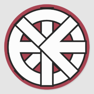 Ichthys Wheel Symbol Round Sticker