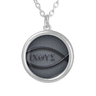 ICHYTHUS SILVER PLATED NECKLACE