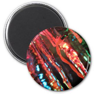 Icicles 6 Cm Round Magnet