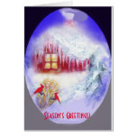 Icicles and Snow Christmas note card