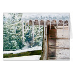 Icicles on the Barn Greeting Card