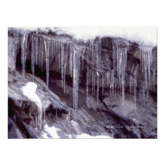 Icicles On The Rocks Photo Art