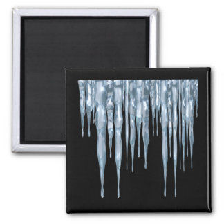 Icicles Square Magnet