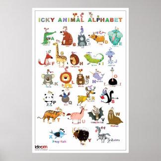 Icky Animal Alphabet - Poster