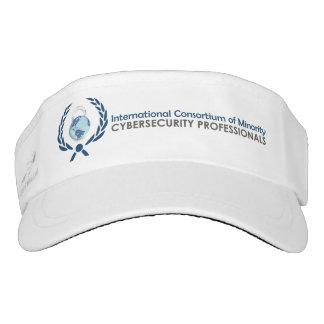 ICMCP Logo'd Visor, White Visor