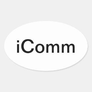 iComm Oval Sticker