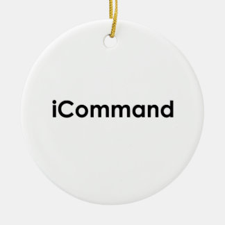iCommand Marching Band Commander Christmas Ornament