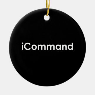 iCommand Marching Band Commander Round Ceramic Decoration