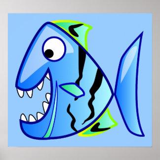 icon-27971  icon blue fish theme apps piranha CUTE Poster