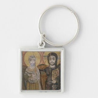 Icon depicting Abbott Mena with Christ Key Ring