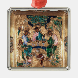 Icon depicting Abraham and the Three Angels Christmas Ornament
