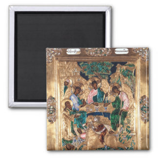 Icon depicting Abraham and the Three Angels Magnet