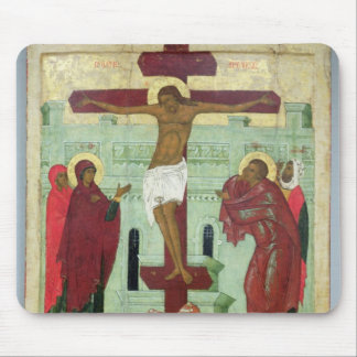 Icon depicting the Crucifixion with the Virgin Mouse Pad