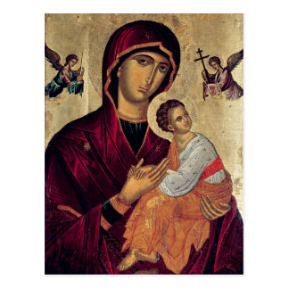 Icon depicting the Holy Mother of the Passion Postcard