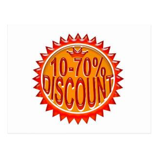 Icon  discount postcard