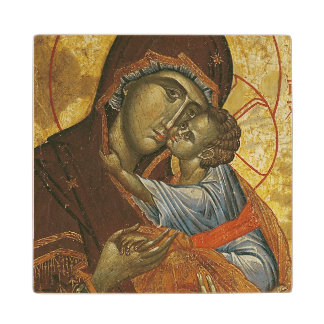 Icon known as the 'Virgin of Tsar Dushan', c.1350 Wood Coaster