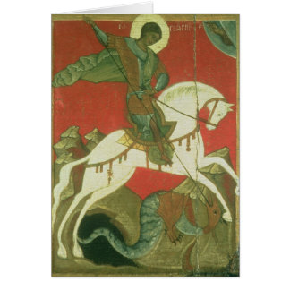 Icon of St. George and the Dragon Card
