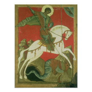 Icon of St. George and the Dragon Poster
