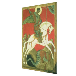 Icon of St. George and the Dragon Stretched Canvas Print