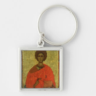 Icon of St. Pantaleon of Nicomedia Key Ring