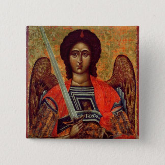 Icon of the Angel Michael, Greek, 18th century 15 Cm Square Badge