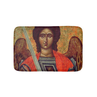 Icon of the Angel Michael, Greek, 18th century Bath Mat